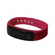"""Смарт браслет (""""умный браслет"""") Portobello Trend, Health, электронный дисплей, браслет-силикон, 195x16x13 мм, красный"""