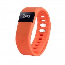 """Смарт браслет (""""умный браслет"""") Portobello Trend, The One, электронный дисплей, браслет-силикон, 240x20x10 мм, оранжевый"""