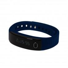 """Смарт браслет (""""умный браслет"""") Portobello Trend, Health, электронный дисплей, браслет-силикон, 195x16x13 мм, синий"""