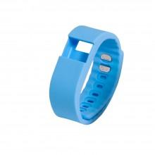 Запчасть браслет-силикон без э/механизма для Portobello Trend, The One 240x20x10 мм, голубой