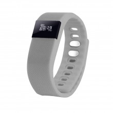 """Смарт браслет (""""умный браслет"""") Portobello Trend, The One, электронный дисплей, браслет-силикон, 240x20x10 мм, серый"""