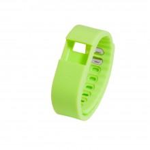 Запчасть браслет-силикон без э/механизма для Portobello Trend, The One 240x20x10 мм, зеленый