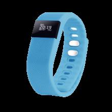 """Смарт браслет (""""умный браслет"""") Portobello Trend, The One, электронный дисплей, браслет-силикон, 240x20x10 мм, голубой"""