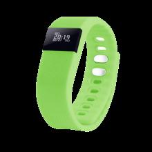 """Смарт браслет (""""умный браслет"""") Portobello Trend, The One, электронный дисплей, браслет-силикон, 240x20x10 мм, зеленый"""