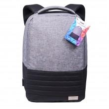 Бизнес рюкзак Portobello с USB разъемом, Leardo, 475х330х150 мм, серый/серый