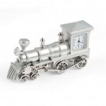"""Миниатюрные часы """"Паровозик"""", цвет серебристый"""