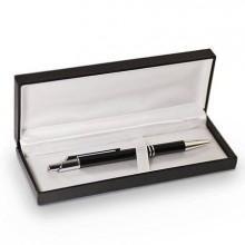 Классическая подарочная коробка, футляр с ложементом для ручки, чёрная