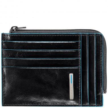 Бумажник Piquadro Blue Square с отделением для монет, черный