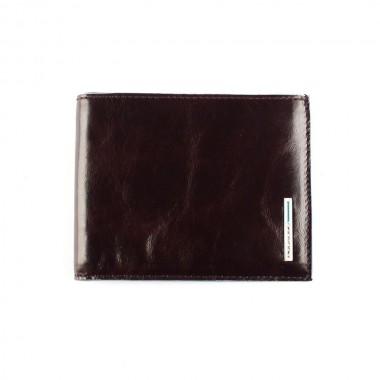 Бумажник Piquadro Blue Square прямоугольный, красно-коричневый