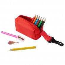 Набор Hobby с цветными карандашами и точилкой, красный
