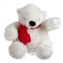 Игрушка «Белый медведь», с красным шарфом