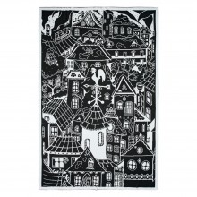 Плед «Город», черно-белый