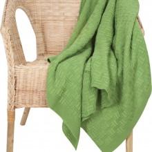 Дорожный плед Basket, зеленый