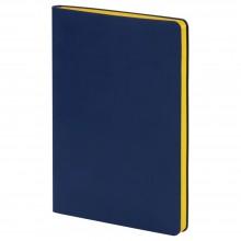 Ежедневник Blues Flex, недатированный, синий с желтым