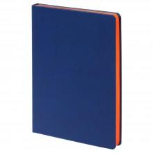Ежедневник Blues недатированный, синий с оранжевым