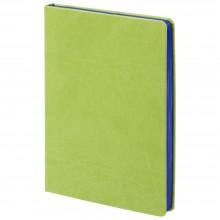 Ежедневник Blues недатированный, cветло зеленый с синим