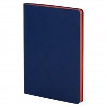 Ежедневник Blues Flex, недатированный, синий с оранжевым