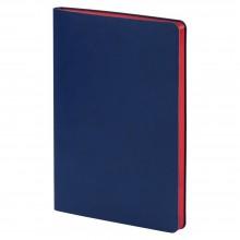Ежедневник Blues Flex, недатированный, синий с красным