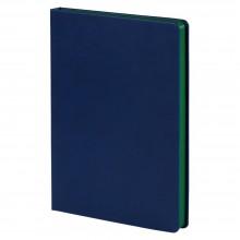 Ежедневник Blues недатированный, синий с зеленым
