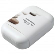 Аккумулятор с беспроводной зарядкой Pebble Wireless 9000 мАч, серо-синий
