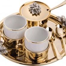 Кофейный дуэт «Ты и я» с серебрением и золочением
