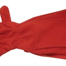 Шарф с варежками, красный