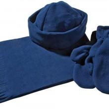 Комплект Unit Fleecy: шарф, шапка, варежки, синий
