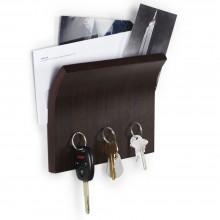 Держатель для ключей и писем Magnetter, коричневый