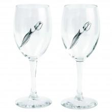 Два бокала с тюльпанами