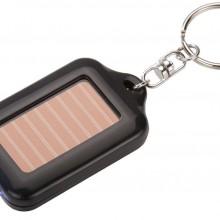 Брелок-фонарик Solar на солнечных батареях, черный