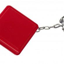 Брелок Square с рулеткой 1 м, красный