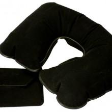 Надувная подушка под шею в чехле Sleep, черная
