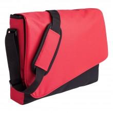 Конференц сумка Unit Messenger, красно-черная