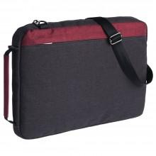 Конференц сумка 2 в 1 twoFold, серый с бордовым