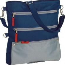 Повседневная сумка-трансформер, синяя с серым
