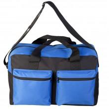 Дорожная сумка Double pocket, черно-синяя