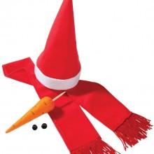 Набор «Настоящий снеговик», красный