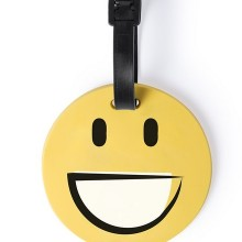 Багажная бирка GRAP(улыбка), желтый, силикон