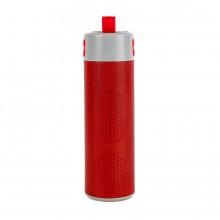 """Bluetooth колонка с зарядным устройством(2000mAh) и моноподом""""Turbo Tube"""",красный с серым,18х5,5х5,3"""