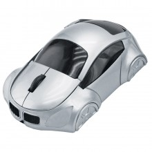 """Мышь компьютерная оптическая """"Автомобиль""""; серебристый; 10,4х6,4х3,7см; пластик; тампопечать"""