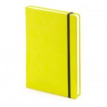 Блокнот недатированный Megapolis Velvet, А5, желтый, бежевый блок, без обреза, ляссе