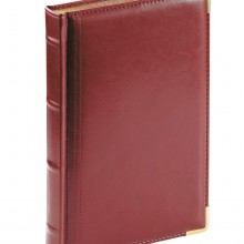 Ежедневник полудатированный Boss, бордовый, А5, белый блок, золотой обрез, ляссе, карта