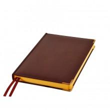 Ежедневник полудатированный Rarity, A5, темно-корич, рециклированная кожа, кремовый блок, подарочная