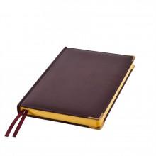Ежедневник полудатированный Rarity, A5, темно-бордо, рециклированная кожа, кремовый блок, подарочная