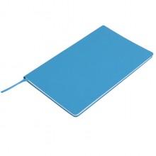 """Бизнес-блокнот """"Audrey"""", 130х210 мм, голубой, кремовая бумага, гибкая обложка, в линейку"""