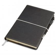 "Бизнес-блокнот ""BUSINESS"", 130*210 мм, серый, съемная обложка, блок-линейка, тиснение"