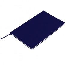 """Бизнес-блокнот """"Audrey"""", 130х210 мм, темно-синий, кремовая бумага, гибкая обложка, в линейку"""