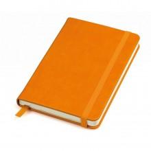 """Бизнес-блокнот """"Casual"""", 115 × 160 мм, оранжевый, твердая обложка, резинка 7 мм, блок-клетка"""