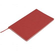 """Бизнес-блокнот """"Audrey"""", 130х210 мм, красный, кремовая бумага, гибкая обложка, в линейку"""