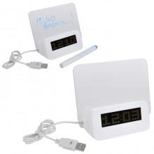 USB-разветвитель с часами и полем для заметок,13,8х6,5х11,6см,пластик